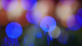 Abstraktów bożonarodzeniowe światła Bokeh Zamazany tło zdjęcie wideo