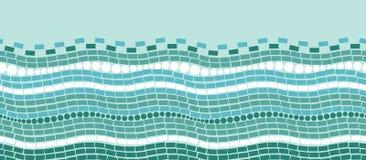 Abstraktów chrystals lodowej tekstury horyzontalny bezszwowy royalty ilustracja