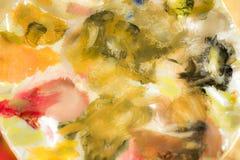 Abstraktów kolory na artysty ` s palecie Fotografia Royalty Free