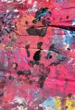 Abstraktów kolory z czarną ręką malującą Fotografia Stock