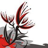 abstraktów kwiaty Obraz Stock