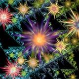 abstraktów kwiaty Obrazy Royalty Free