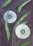 abstraktów kwiaty Zdjęcia Royalty Free