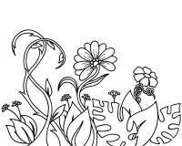 Abstraktów kwiaty i rośliny Ilustracja Wektor