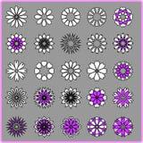 Abstraktów kwiaty ustawiający Obraz Stock