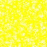 Abstraktów lekcy płatki śniegu na jaskrawym żółtym tle, zimy tekstura, Bezszwowa ilustracja ilustracji