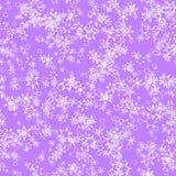 Abstraktów lekcy płatki śniegu na purpurowym tle, zimy tekstura, Bezszwowa ilustracja ilustracji