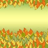Abstraktów liści rama Obrazy Stock