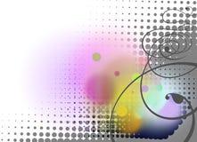 Abstraktów okręgi i zawijasy deseniują tło Obrazy Royalty Free