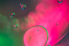 Abstraktów pojedynczy bąble wodny unosić się Zdjęcie Stock