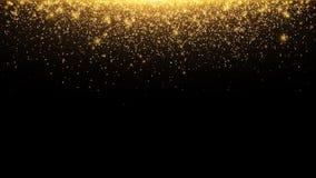 Abstraktów spada złoci światła Magiczny złocisty pył i świecenie o boże narodzenie świąteczne złoty deszcz wektor ilustracja wektor