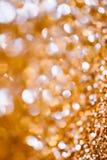 Abstraktów Spangles wakacji złoci światła na tle Zdjęcie Stock
