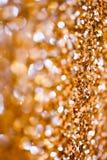 Abstraktów Spangles wakacji złoci światła na tle Zdjęcia Royalty Free