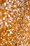 Abstraktów Spangles wakacji złoci światła na tle Obraz Royalty Free