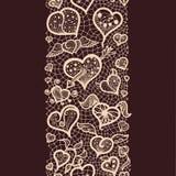 Abstraktów valentin Koronkowy Tasiemkowy dzień royalty ilustracja
