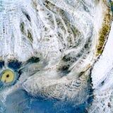 Abstraktów wzory na ziemi od wodnych strumieni Zdjęcia Stock