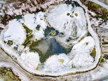 Abstraktów wzory na ziemi od wodnych strumieni Obrazy Royalty Free