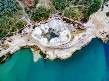 Abstraktów wzory na ziemi od wodnych strumieni Fotografia Stock