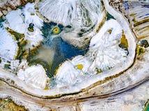 Abstraktów wzory na ziemi od wodnych strumieni Zdjęcie Stock