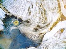 Abstraktów wzory na ziemi od wodnych strumieni Zdjęcia Royalty Free