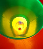 Abstrakt ändlös plast- tunnel Arkivbilder