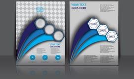 Abstrakt årligt för Infographic för sida för tidskrift för mall för affisch för bokomslag för broschyr för Brouchure reklamblador Arkivbilder