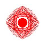 abstrakt öga Linjärt diagram in vektor illustrationer