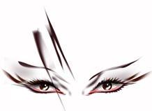 abstrakt ögon Arkivfoton