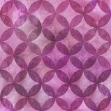 Abstrakt överlappande sömlös modell för cirklar Royaltyfri Foto