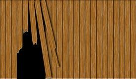 Abstrakt łamający drewniany ogrodzenie royalty ilustracja