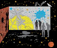 Abstrakt ściana cegły Fotografia Royalty Free