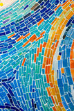 Abstrakt ściana dekorująca kolorowa dachówkowa tekstura. Fotografia Stock