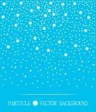Abstrakt śnieżnych cząsteczek spada cyan tło również zwrócić corel ilustracji wektora royalty ilustracja