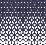 Abstrakt świętej geometrii siatki halftone sześcianów purpurowy wzór royalty ilustracja