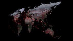 Abstrakt światowa sieć, internet i globalny podłączeniowy pojęcie, royalty ilustracja