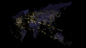 Abstrakt światowa sieć, internet i globalny podłączeniowy pojęcie, ilustracja wektor