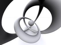 abstrakt 3d svalnar stock illustrationer