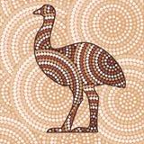 Abstrakt Aboriginal konst Arkivbilder