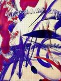 Abstrakt acrilic målning royaltyfri illustrationer