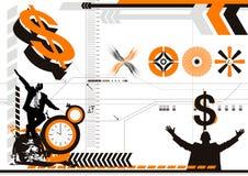 abstrakt affär stock illustrationer