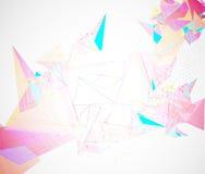 Abstrakt affär för teknologi för triangel för strukturströmkretsdator Royaltyfri Fotografi
