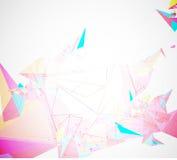 Abstrakt affär för teknologi för triangel för strukturströmkretsdator Royaltyfria Bilder