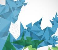 Abstrakt affär för teknologi för triangel för strukturströmkretsdator Royaltyfri Foto