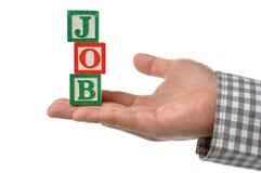 Abstrakt affärsman som söker efter ett jobb Royaltyfri Bild