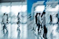 abstrakt affärsstadsfolk Arkivfoto