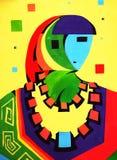 abstrakt akademiskt teckningsfolk Arkivbild