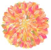 Abstrakt akryl för cirkel och vattenfärg målad bakgrund Fotografering för Bildbyråer