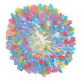Abstrakt akryl för cirkel och vattenfärg målad bakgrund isola Fotografering för Bildbyråer