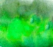 Abstrakt akryl målad tom bakgrund Grön vattenfärgtextur Grungemall för din design Royaltyfri Bild
