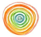 Abstrakt akryl och målad bakgrund för vattenfärg cirkel Arkivfoto